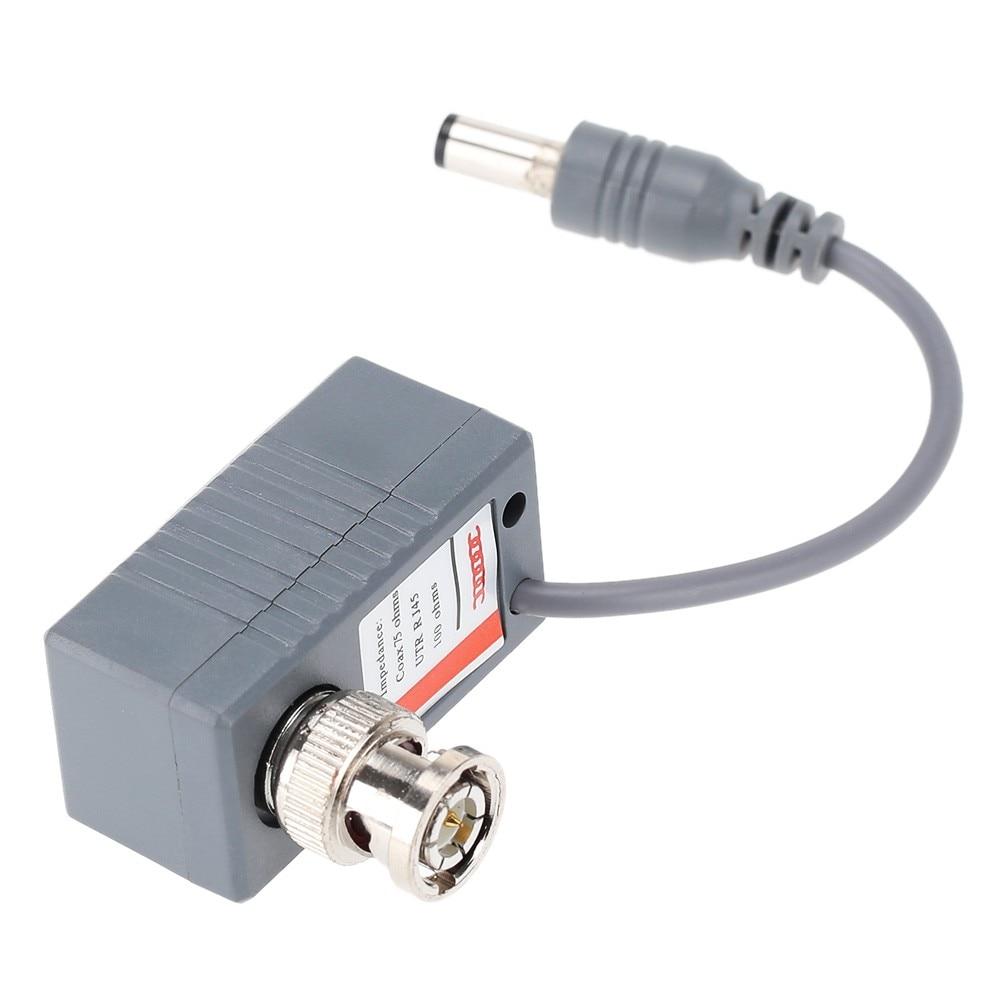 5 Pairs bnc to rj45 Video Balum Passive CCTV Coax BNC Power Transceiver Connectors to RJ45 BNC male for CCTV Camera enlarge