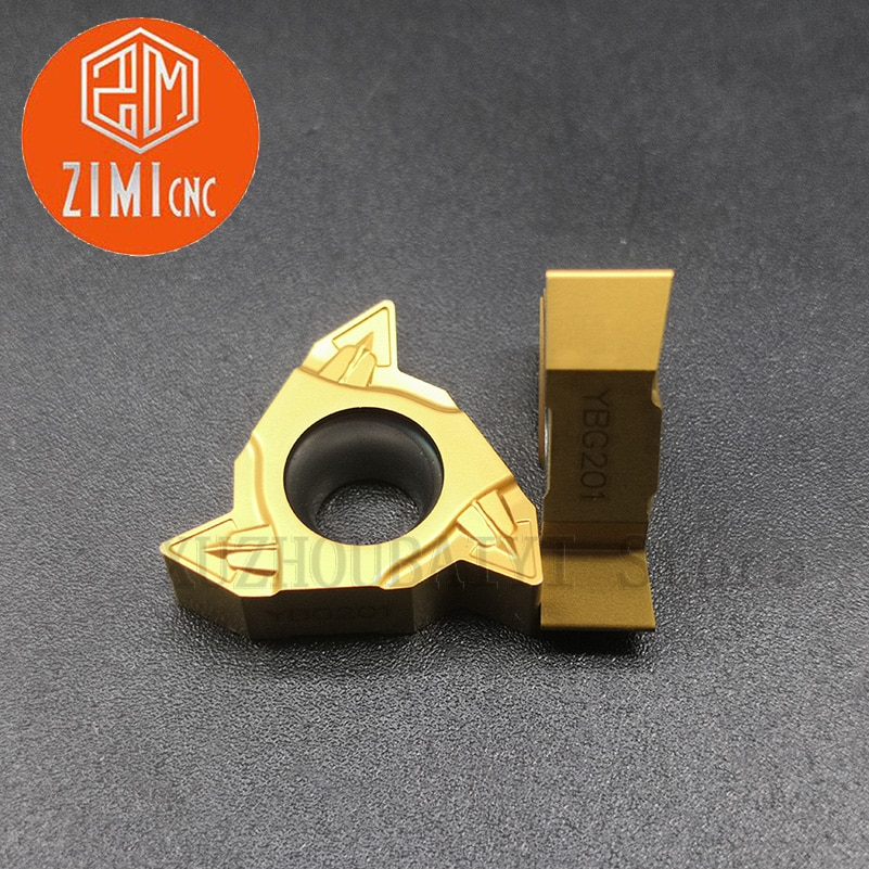 10 قطعة RT22.01W-N60P YBG201 إدراج الخيوط لتصنيع الصلب والفولاذ المقاوم للصدأ والحديد الزهر مع إدراج كربيد الملعب كبير