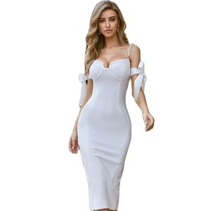 Women Sexy Bodycon Sleeveless White Dress Hollow Out Solid Clubwear Party Long Ladies Dress Sundress New Arrival