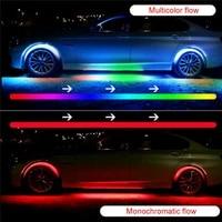 4pcs car rgb led strip light under led strip lights 7 colors tube underbody system bluetooth app control neon chassis light kit