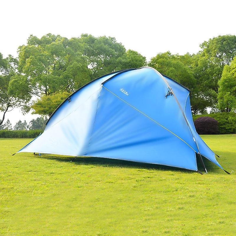 Hillman Ultralarge 480*480*200CM 3 paredes de alta calidad impermeable Camping al aire libre refugio del sol tienda de Camping gran toldo Gazebo