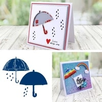 rain umbrella die cutting dies and stamps scrapbook diary decoration stencil embossing template diy greeting card make albums