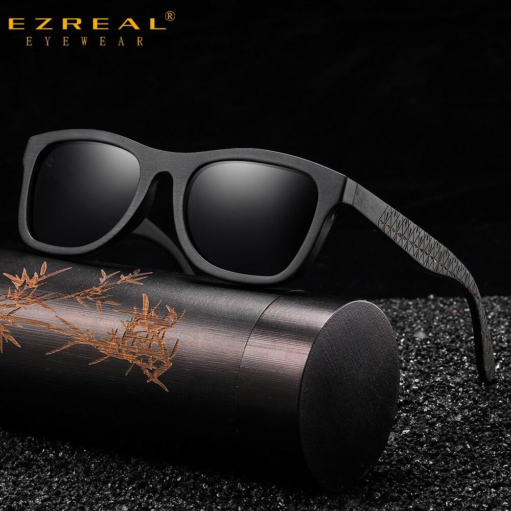EZREAL Nature-gafas de sol polarizadas para hombre, lentes Retro de bambú con...