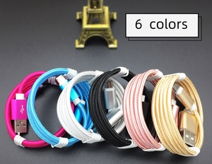 Nylon 25cm 1m 2m 3m Data USB Charger Cable For iPhone Xs 8 7 6S Plus Xiaomi 8 Samsung S8 S9 iPad Fast Charging V8 Long Wire Cord