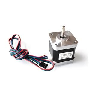 17Hs8401B одиночный выходной вал Гибридный 42 Шаговый двигатель 48 мм 2 фазы 4 провода