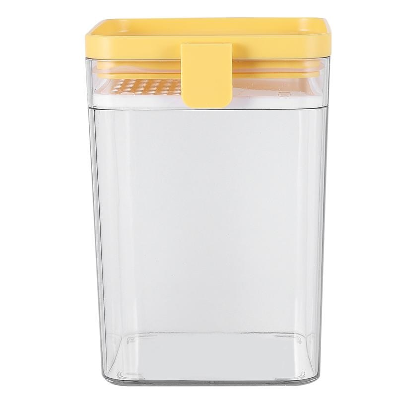 1 sztuk przezroczyste ziarna zbiornik słoiki do przechowywania zamknięte może pojemnik do przechowywania żywności z siatką przesiewacza bariery 500/1000ML