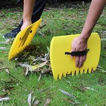 1 paire jardin nettoyage feuille Scoop Portable coupe feuilles outil ordures herbe pelouse cour main râteaux Grabber ramasser