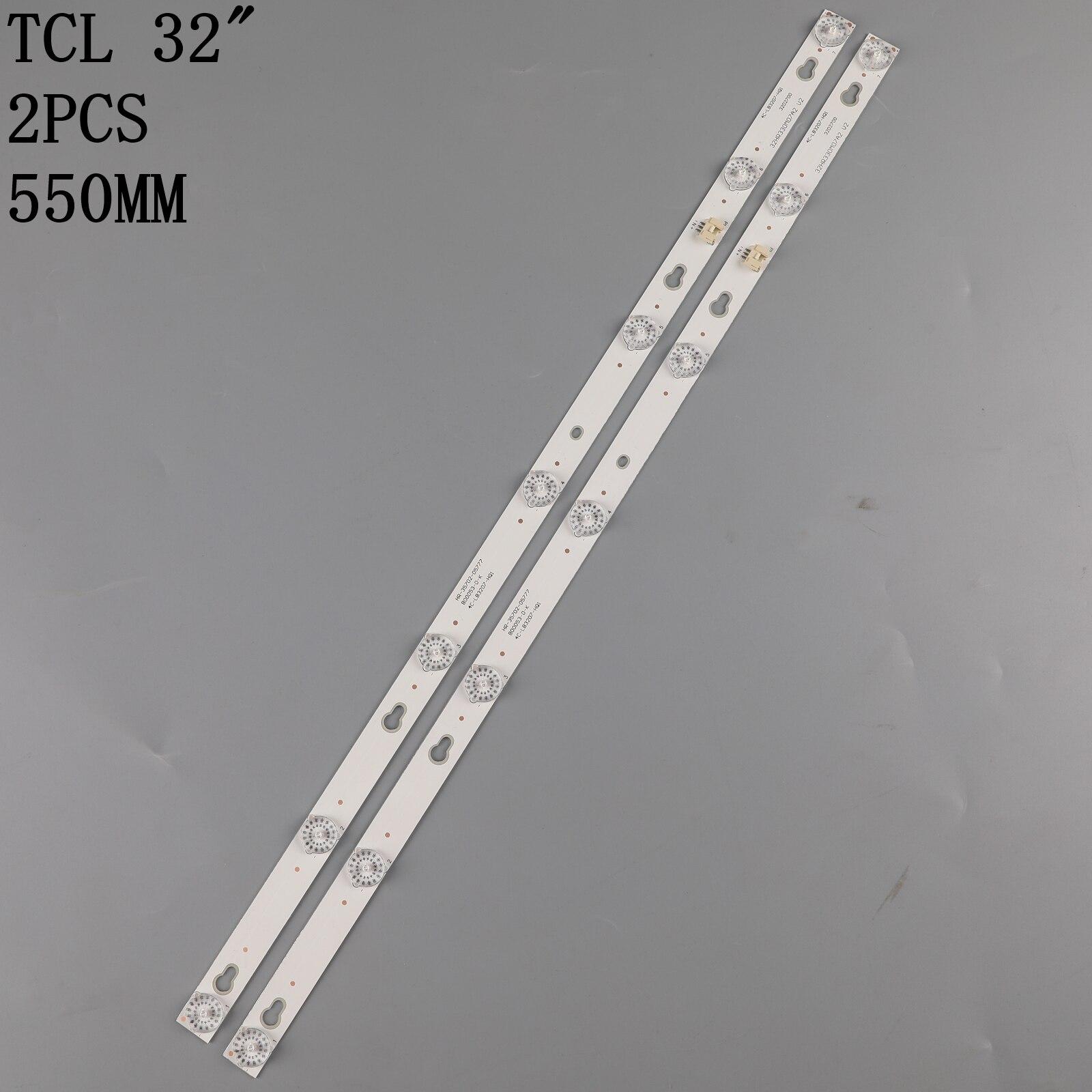 55 см полоска для TCL 4C LB3207 HQ1 32HR330M07A2 32S3750 32D2700 L32F3301B L32F3303B L32E181 L32F1680B TOT 32D2700 2X7 3030 7S1P Запчасти для фотовспышек      АлиЭкспресс