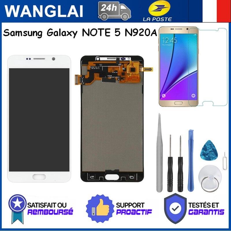 لسامسونج غالاكسي نوت 5 N920 N920A TFT LCD عرض شاشة تعمل باللمس محول الأرقام جزء استبدال العرض