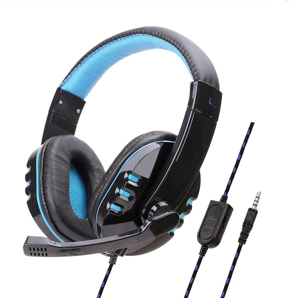 Cancelamento de ruído em casa para pc com fio mic faixa ajustável baixo surround gaming headset universal escritório leve