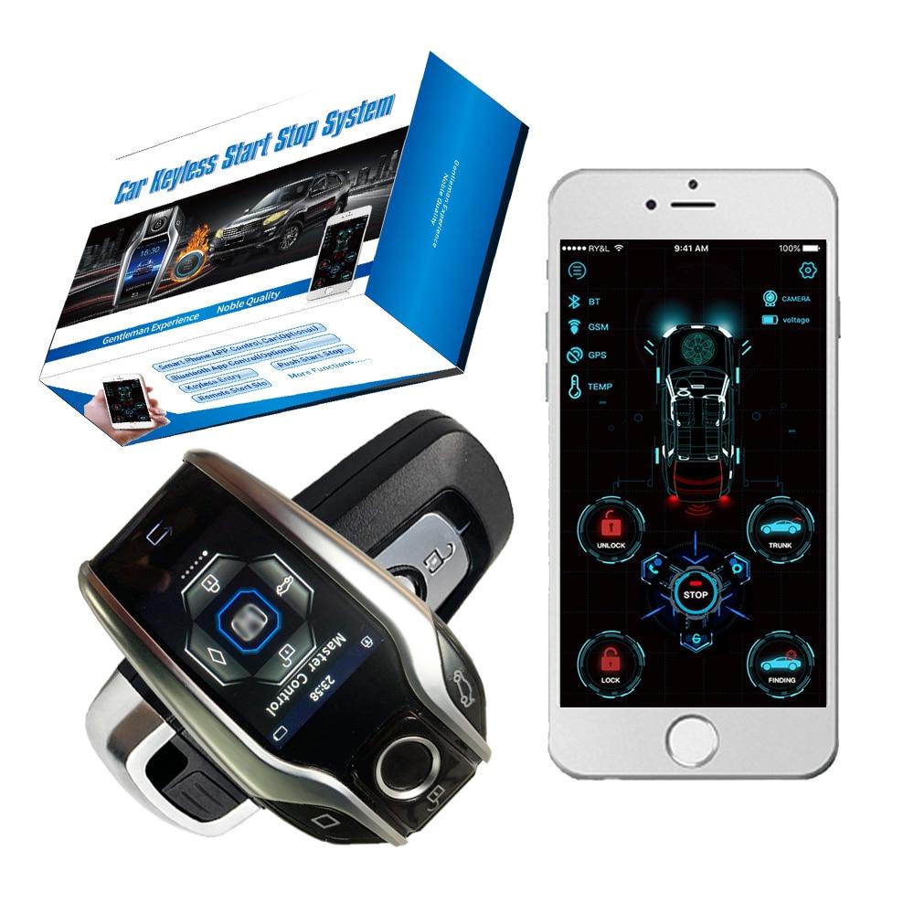 Cardot Lcd Starter Open Trunk And Find Car App Start Stop Egine  Ignition System Car Alarm