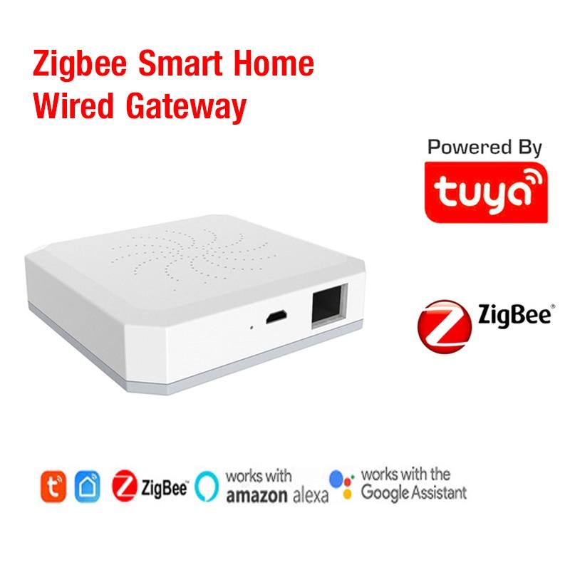 Tuya ZigBee Smart Gateway Hub Wired Controller Mini Gateway Real-time Monitorng Home Smart APP Family Intelligence System Newest