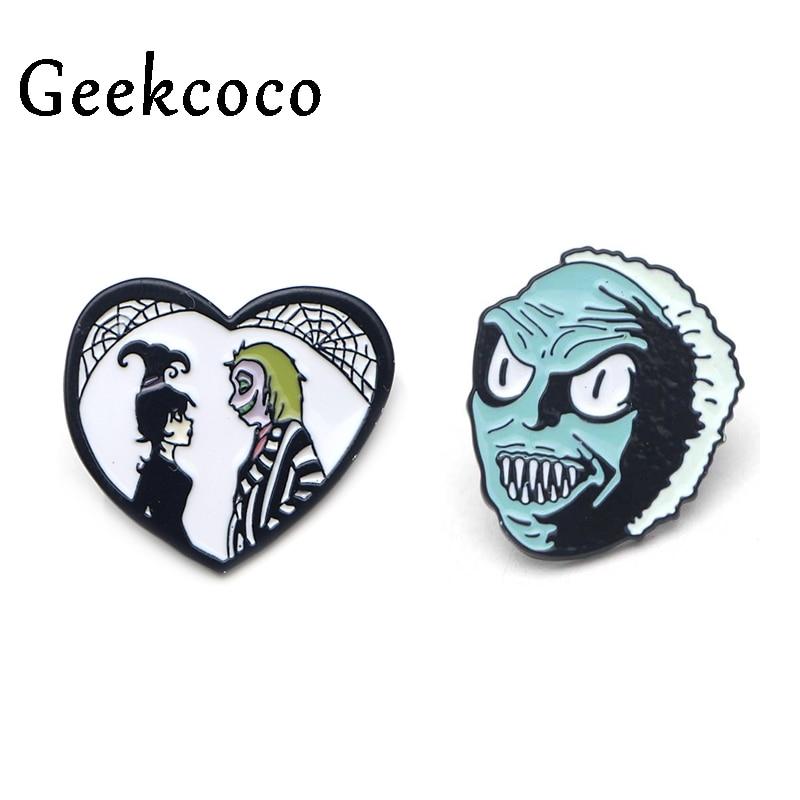 Cartoon Character Head Zinc Alloy Funny Enamel Pins Medal backpack clothes brooches for men women hat decoration badges J0022