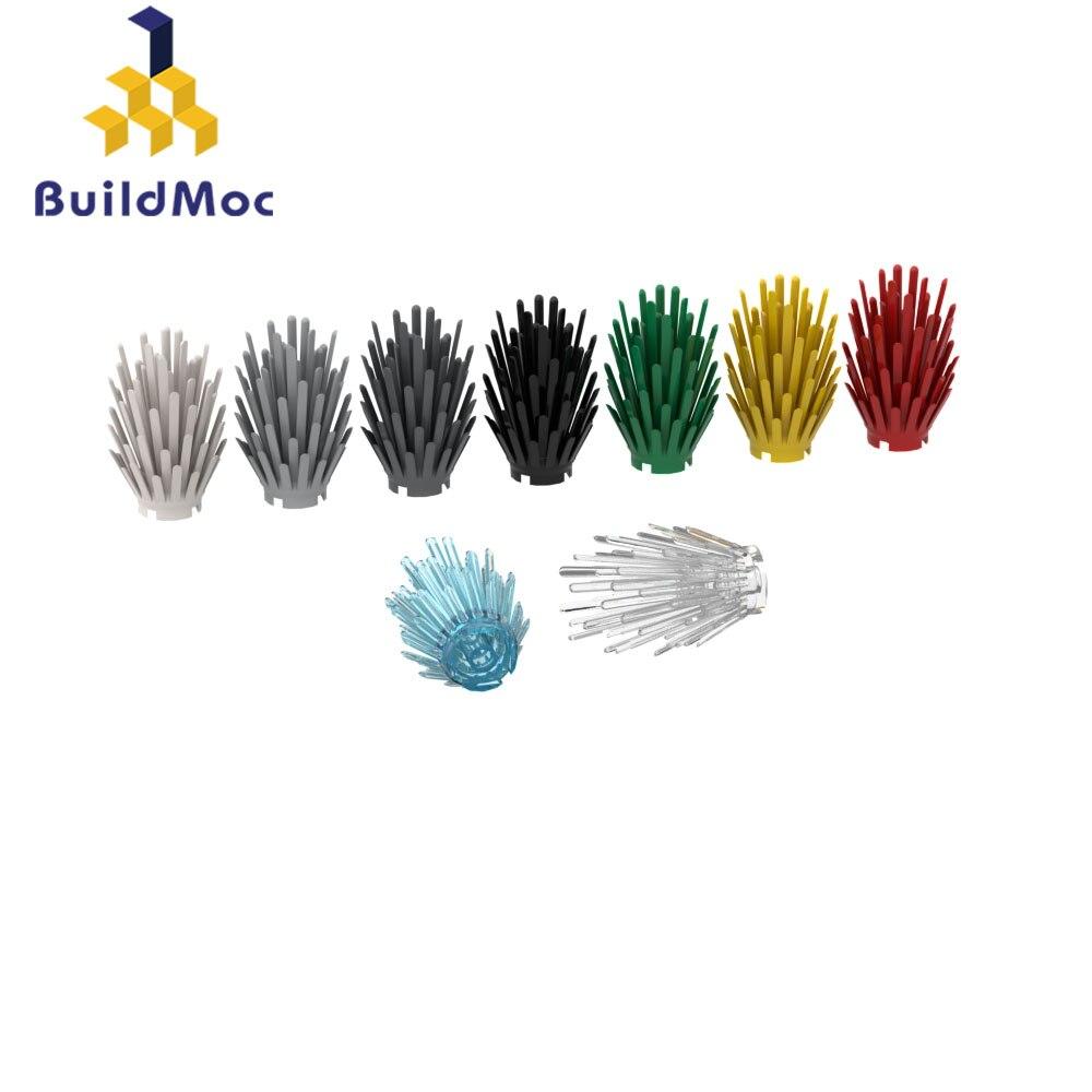 Buildmoc 6064 4x4x5 planta flor para blocos de construção peças diy construção educacional criativo
