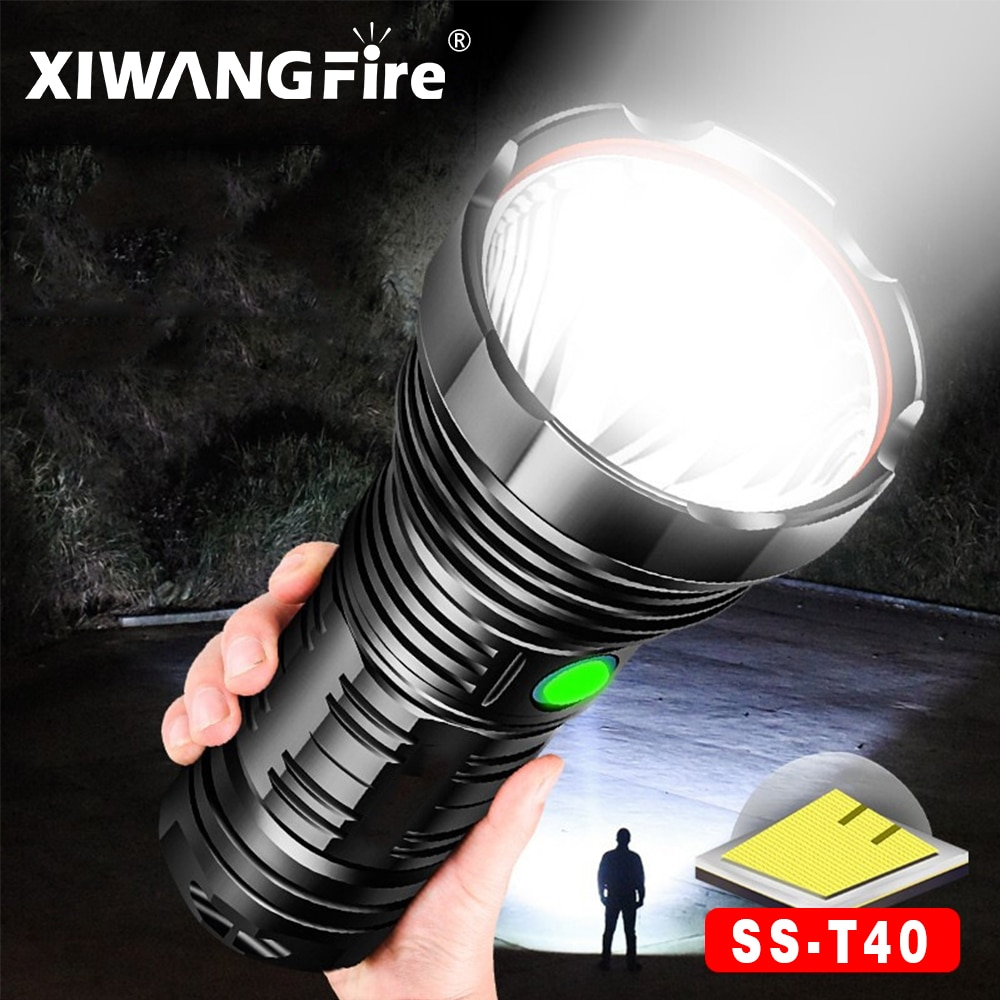 Powerful Flashlight High-power Glare Long-Range Handheld Searchlight USB Rechargeable LED Flashlight