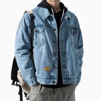 denim jackets coats men spring autumn daily casual tide brand regular black mens tooling jacket style trend tops