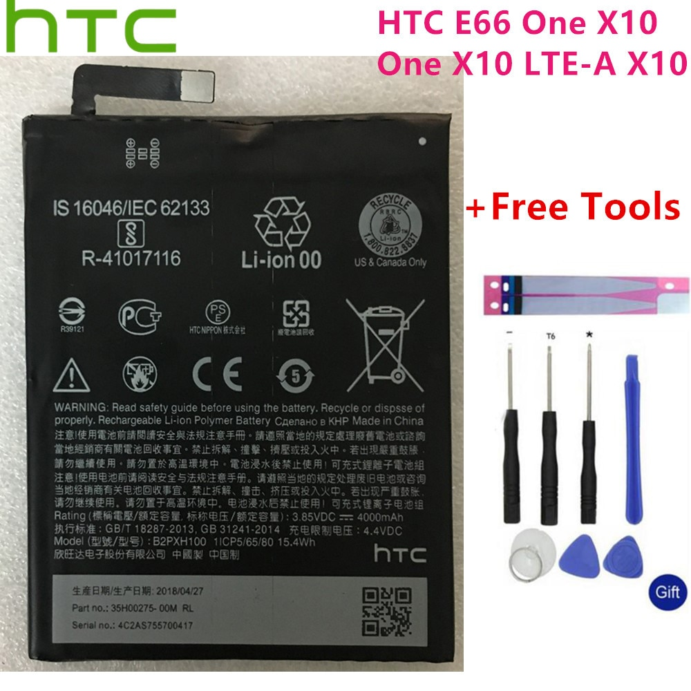 HTC Original High Capacity B2PXH100 Battery For HTC 2PXH100 E66 One X10 One X10 LTE-A X10 4000mAh+Free Tools