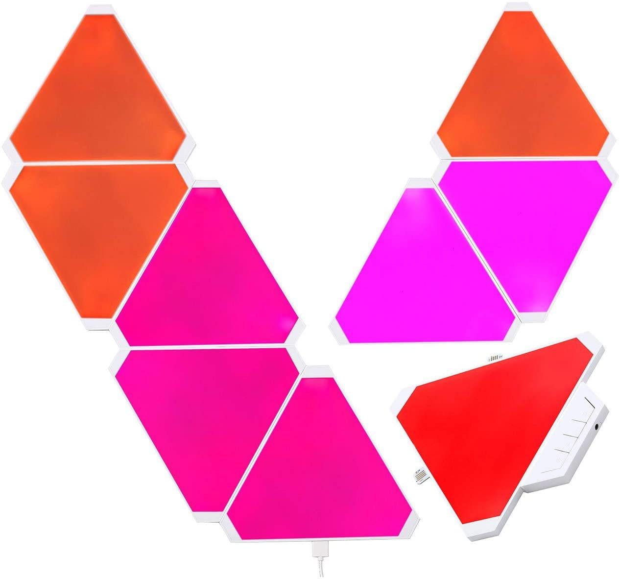 Smart Home Light Panels Rythem Edition, WiFi Smart LED Light Kit DIY Rhythm Music Syncing Smarter, Triangle Lights, Gaming Room enlarge