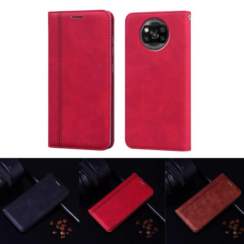 Funda de cuero con diseño de negocios para Ksiomi Xiaomi MI 10 9T a2 a3 CC9 CC9E X3 POCO X2, funda tipo billetera para Xiaomi Poco X3 NFC Etui