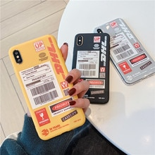 Personnalité Couple Dhl Motif Téléphone étui pour samsung Note 10 8 9 plus S10 E S9 S8 S7 bord A30 A50 A70 A80 A90 A8 A9 Étuis Souples