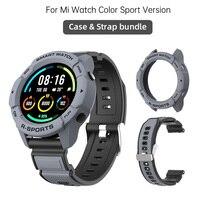 Case Strap bundle for Xiaomi Mi Watch Color Sport Version band bracelet accessories Cover armor bumper
