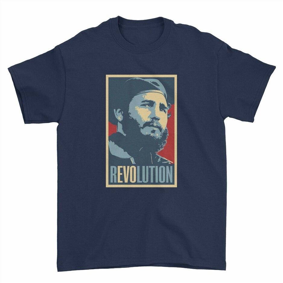 La Revolución cubana de Fidel castrista Che Guvara Cuba Boys Men T Shirt camiseta superior camiseta de gran tamaño