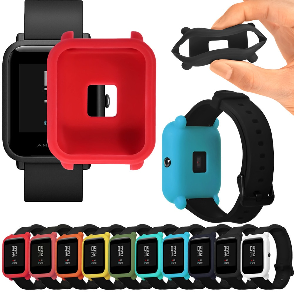 top selling product 2020 Soft TPU Protection Silicone Full Case Cover For Huami Amazfit Bip Youth Wa