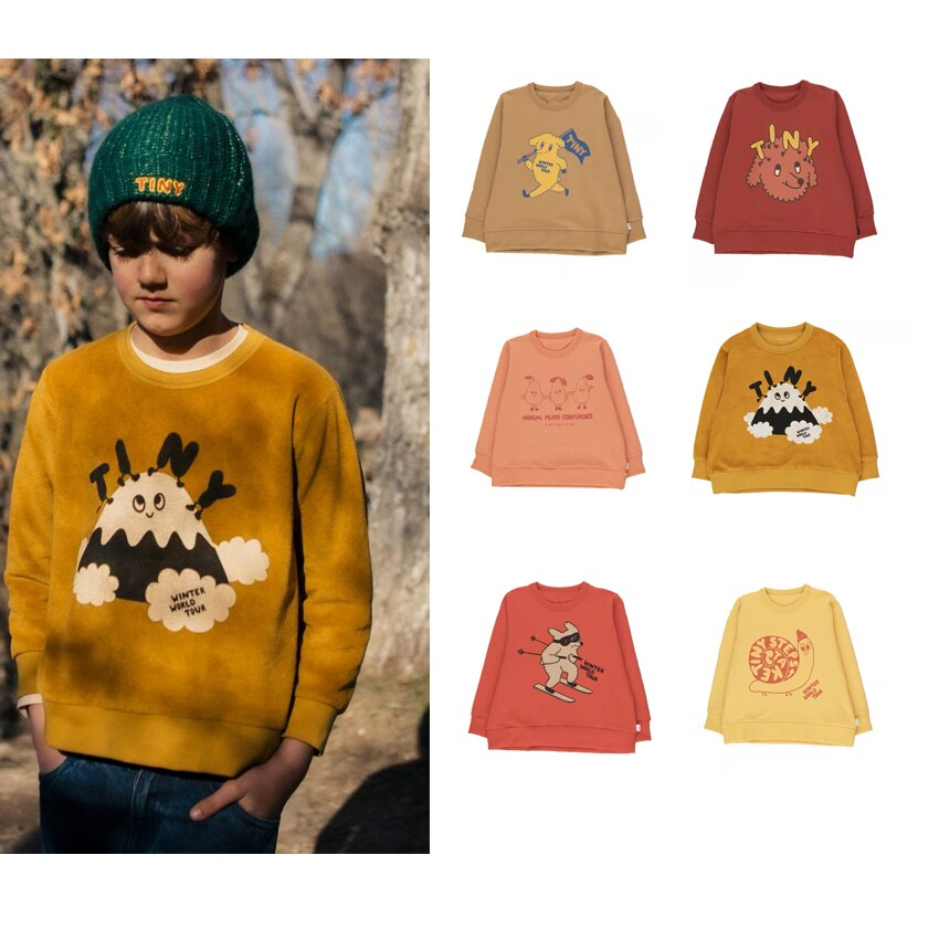 Ropa para niños, Sudadera con capucha pequeña para niños, Blusa de manga larga de algodón para otoño e invierno, camiseta para niñas, ropa de manga larga para niños