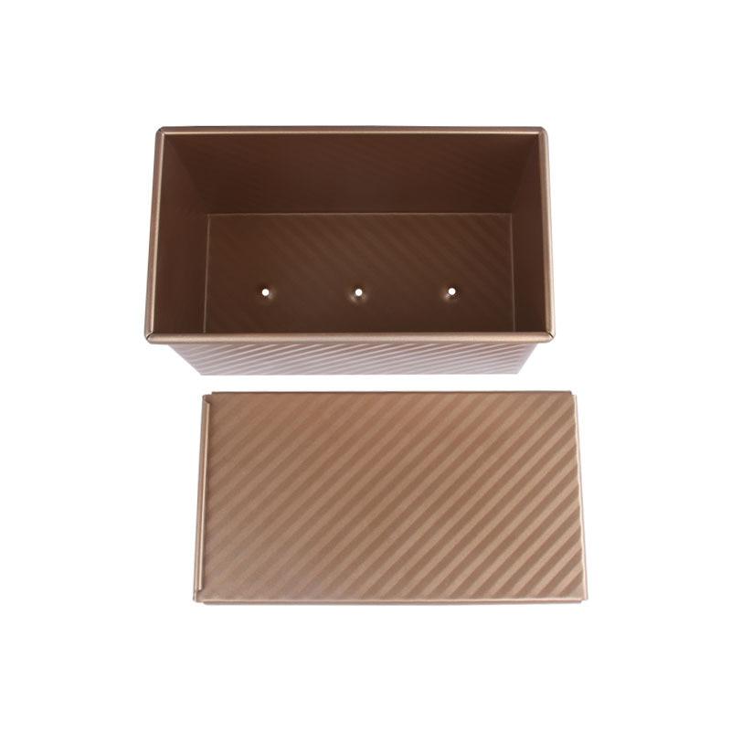 Loaf Pan Mit Abdeckung Brot Backform Kuchen Toast Nicht-Stick Toast Box mit Deckel Gold Aluminized Stahl Brot mould Brot Form