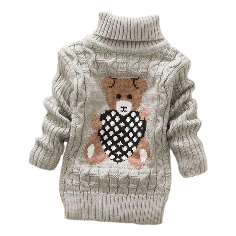 2019 herbst winter Säuglings Baby Jungen Mädchen Kinder Kinder Gestrickte hohe kragen Pullover Rollkragen Warme starke Pullover 2-8 jahr