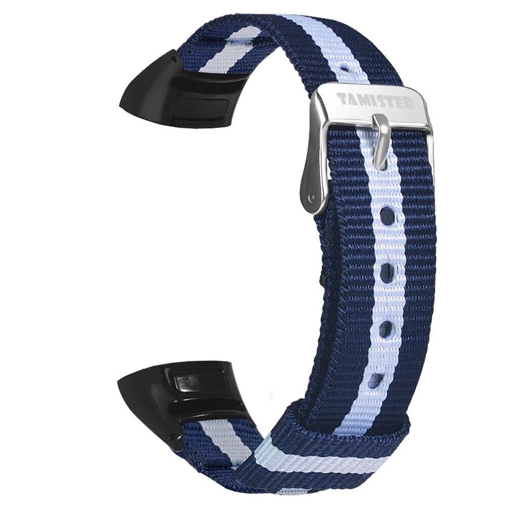 Reloj inteligente Correa deportiva de nailon fina tejida para Huawei Honor Band 5/4 para mujer hombre muñeca suave resistente al agua banda para la muñeca