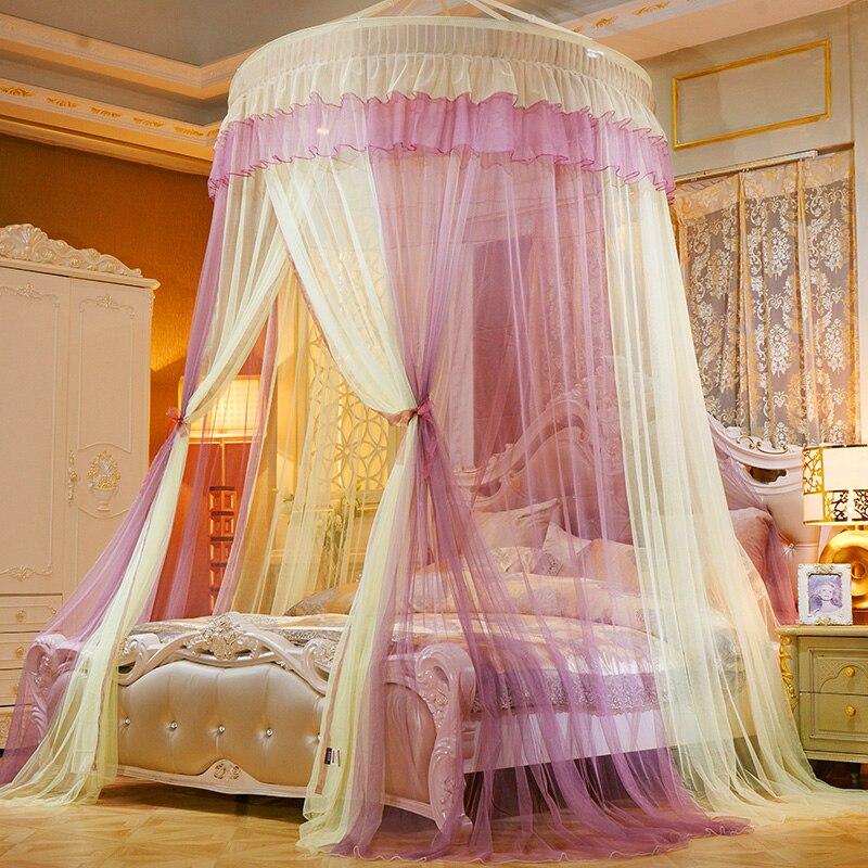 ستارة سرير الأميرة المزدوجة ، خيمة المنزل ، الملكة ، الملك ، ناموسية ، شاشة سقف ، مظلة CK قابلة للطي ، قبة كاملة D20