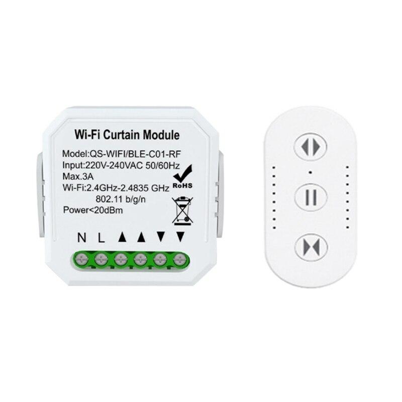 Tuya واي فاي RF الستار وحدة تبديل APP/التحكم عن بعد صوت متوافق مع أليكسا جوجل الرئيسية توقيت تقاسم السيطرة