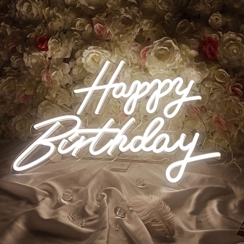 Customized Light Up Letter Sign LED Light Acrylic Custom Logo Neon Signs For Home Wedding Ins Party Birthday Wall Decoration enlarge