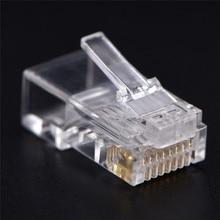 50 PCS RJ45 CAT5 CAT5e CAT6 Net Network Cables Modular Connector Plug 8P8C For Computers Hot Sale Ca