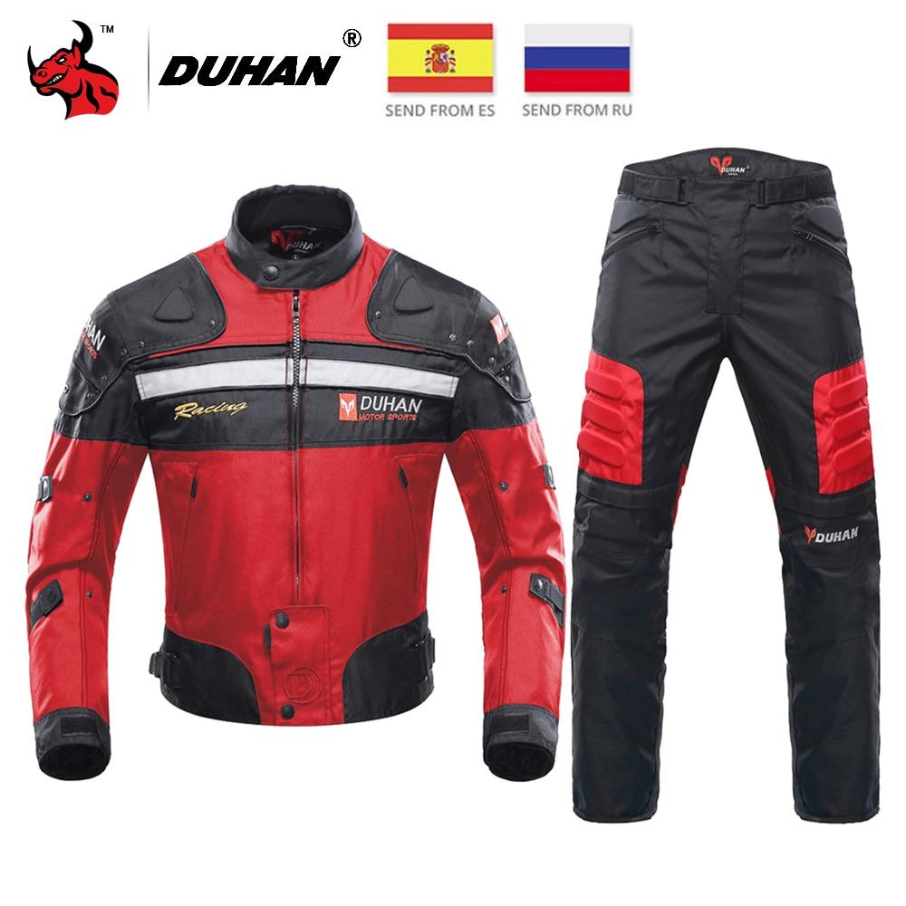 DUHAN Motorcycle Jacket Men Motocross Riding Jacket Windproof Protective Gear Off-Road Racing Motorbike Clothing Chaqueta Moto