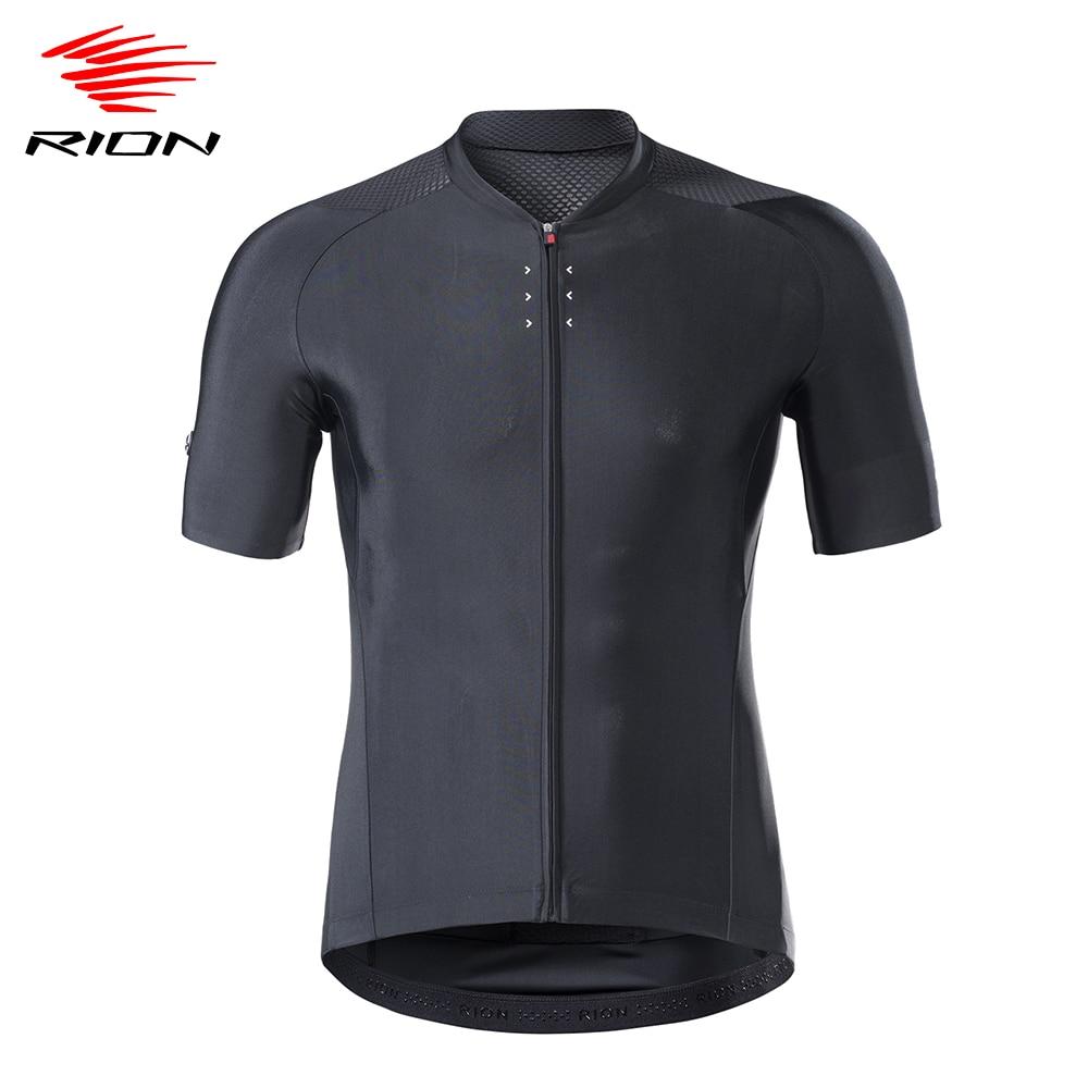 RION hombres Ciclismo Jersey transpirable de secado rápido MTB cuesta abajo camisetas...