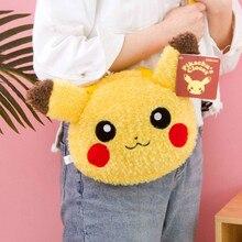 TAKARA TOMY Pokemon Pikauchu Backpack Plush Toy Kawaii Anime Crossbody Bag Stuffed Soft Handbag Gift for Girlfriend Present