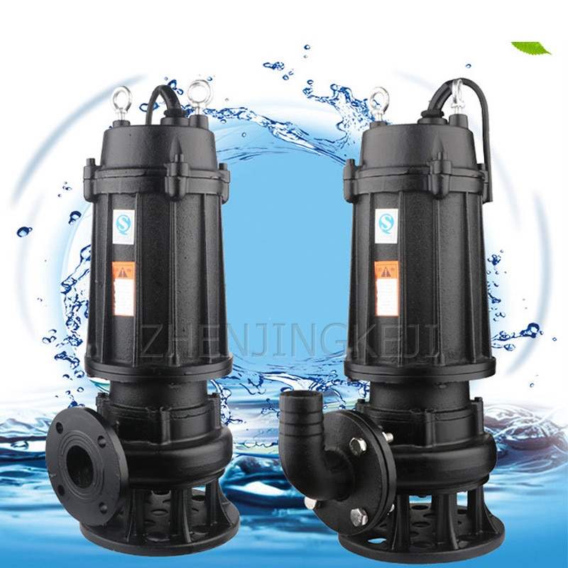 Domestic Sewage Pump 220V/380V Sewage Pump High Power 750W/1100W Self-priming Boost Fire Fighting Pipeline Submersible Pump Tool