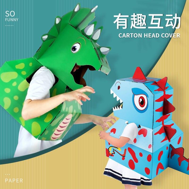 Динозавры из картонных коробок, 3D головоломки, Картонные Игрушки
