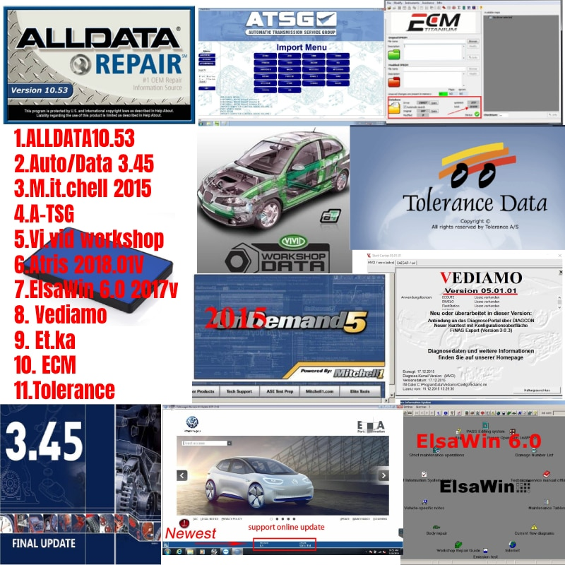 All data + Mit.chell+Auto.Data+ ATSG +Vivid workshop +Atris+ elsawin + vidiamo + Et.ka + ECM + Tolerance car repair software недорого