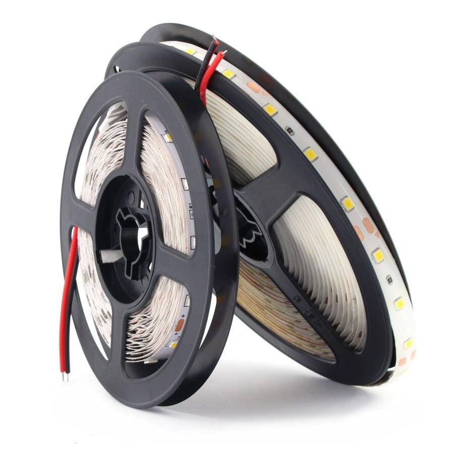Tira de luces LED RGB de 12 V, impermeable, 2835, 12 V, tira de luces LED de 1 M-5 M, impermeable, 60 LEDs/M, tiras de Led RGB, retroiluminación Flexible de TV de diodo