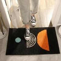 rectangular high velvet entrance door mat two color door mat household bathroom toilet door absorbent non slip floor mat carpet
