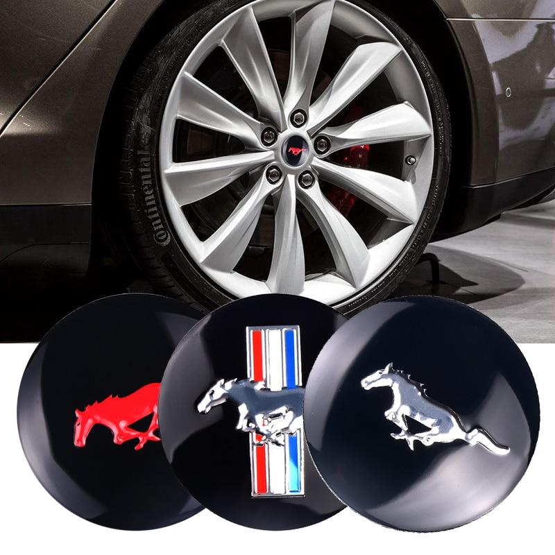 4 Uds coche volante tapacubos de centro de rueda etiqueta Logo de Mustang para Ford Focus tableta amortiguador Tech accesorio beige Rojo Negro compruebe Tartan tableta amortiguador Kuga fusión Mondeo Fiesta de tránsito Mustang de