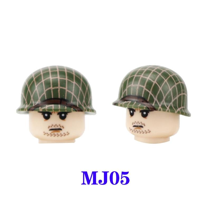 WW2 Airborne Division 101st soldado accesorios para arma bloques de construcción WW2 militar US casco armas ladrillos juguetes para niños MJ05