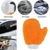 1pcs car cleaning wash tools microfiber washing gloves auto care water absorption car styling soft plush car accessories dust cl