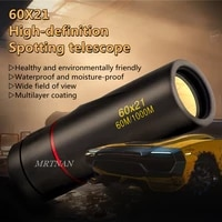 60x21 high magnification hd monocular telescope waterproof mini telescope portable military zoom 10x scope for travel hunting