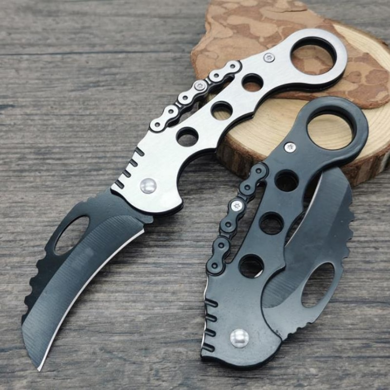 Outdoor Survival Scimitar Eagle Claw Claw Knife Mini Defensive Military Knife High Hardness Wilderness Portable Folding Knife