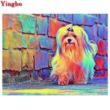 Shih tzu-peinture diamant sur animaux 5D   Pour chien, carré complet, kit de point de croix fait à la main, décoration en mosaïque brodée en diamant, livraison gratuite
