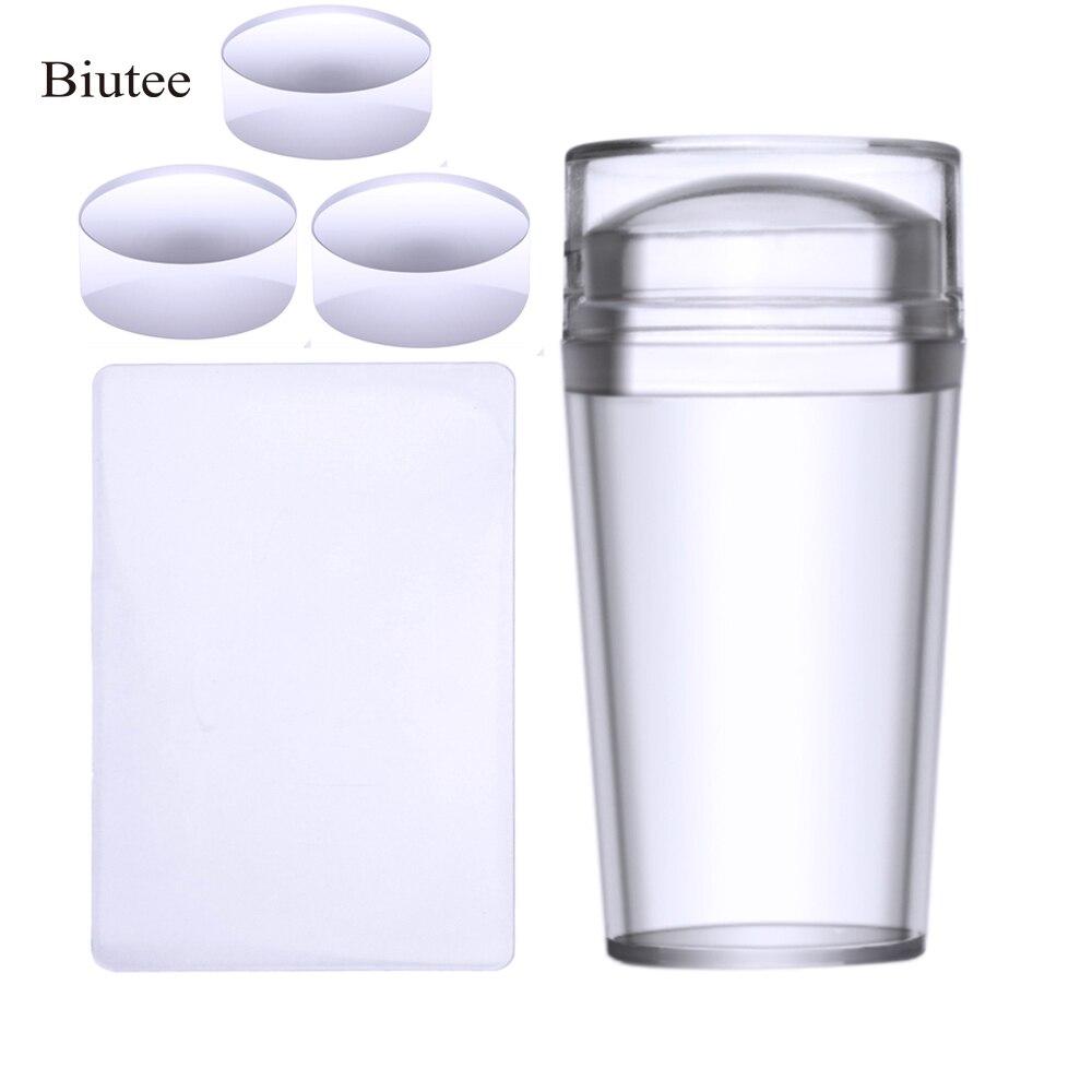 Прозрачные силиконовые маникюрные инструменты Biutee, набор стемперов со скребком для дизайна ногтей, набор инструментов для самостоятельного тиснения ногтей, штампы маникюрные инструменты для ногтей